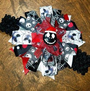 Other - Handmade Santa Jack hairbow